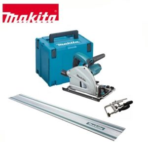 Makita SP6000 J Plunge Cut Saw, 1,4m Track & Set of Clamps