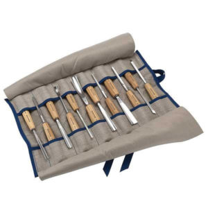 Pfeil 12 Piece Carving Set in Tool Roll