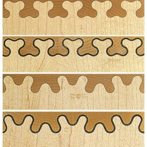 Leigh Clover & Bears Ears Isoloc Joint Templates for D-series Dovetail Jigs