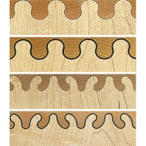 Leigh Ellipse & Wave Isoloc Joint Templates for D-series Dovetail Jigs