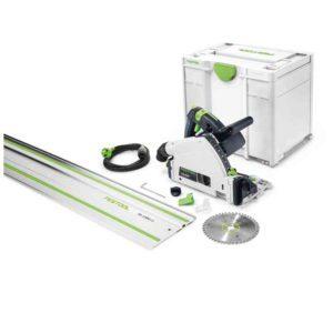 Festool FES576007 TS 55 REBQ-Plus-FS Plunge-cut Saw – Cutting Depth 55mm – 1200W – NEW Type Systainer & FS 1400/2 Guide Rail included