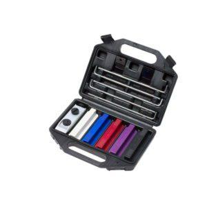 EZE-LAP DMD/C Kit. 5 Stone Knife Sharpening System. Includes Superfine, Fine, Medium, Coarse Diamond Stones and a Ceramic Stone